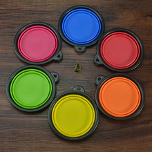New, portable / foldable silicone dog bowl in different colors