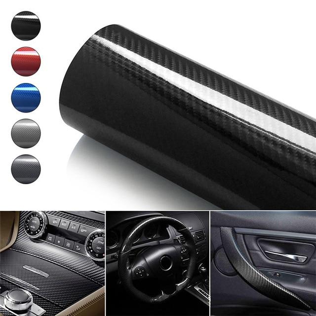 10/20/30cmx152cm 5D High Glossy Carbon Fiber Vinyl Film Wrap Interior Carbon Fiber Film Motorcycle Car Styling Accessories