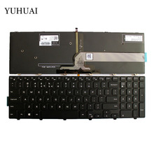US keyboard For Dell Inspiron 15 3000 5000 3541 3542 3543 5542 5545 5547 17-5000 Laptop English Keyboard With Backlit(China)