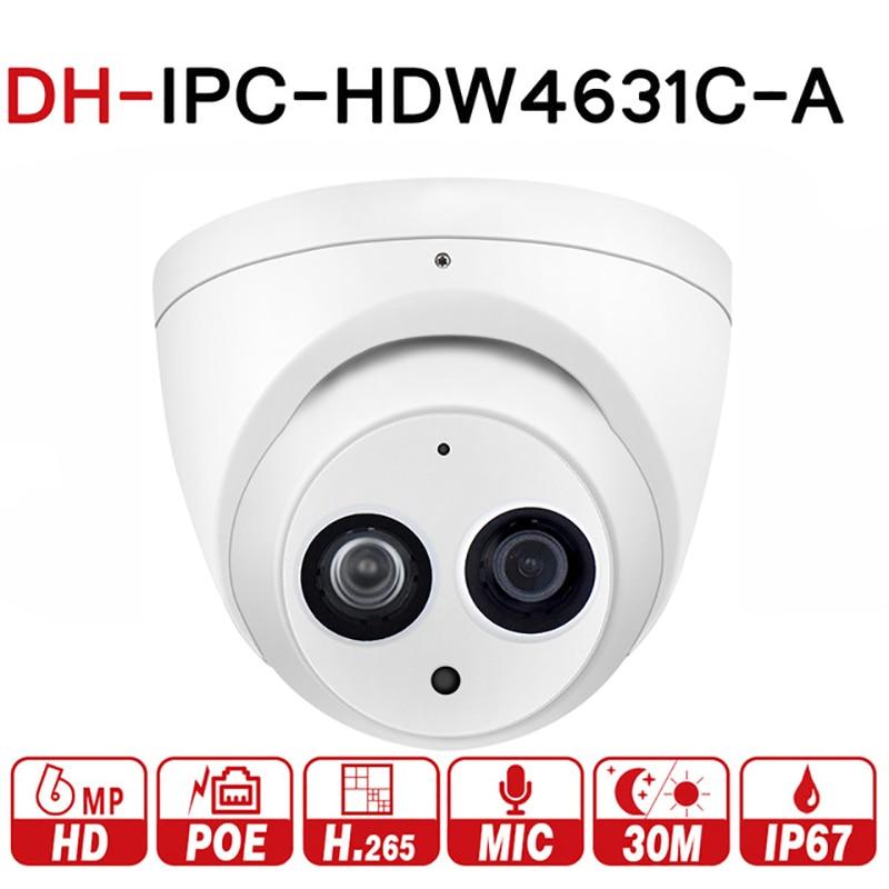 Dahua IPC-HDW4631C-A HD 6MP PoE Built-in Mic IR Dome Network Security IP Camera