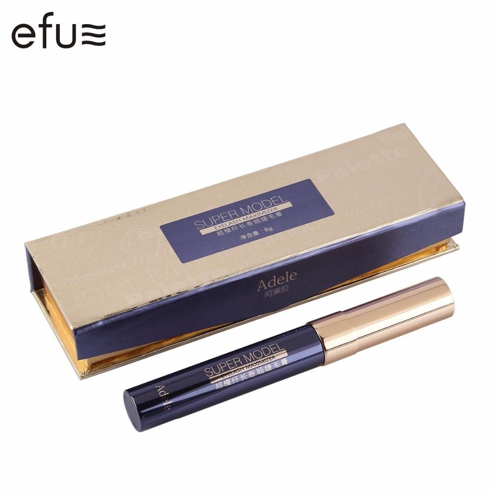 Mascara imperméable Super modèle noir cils allongement 8g haute qualité maquillage des yeux marque EFU #7225