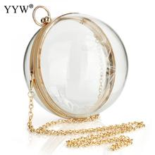 YYW Acrylic Round Ball Shoulder Bag For Women 2019 New Arrive Crossbody Bags With Chain Transparent Evening Clutch PVC Handbags