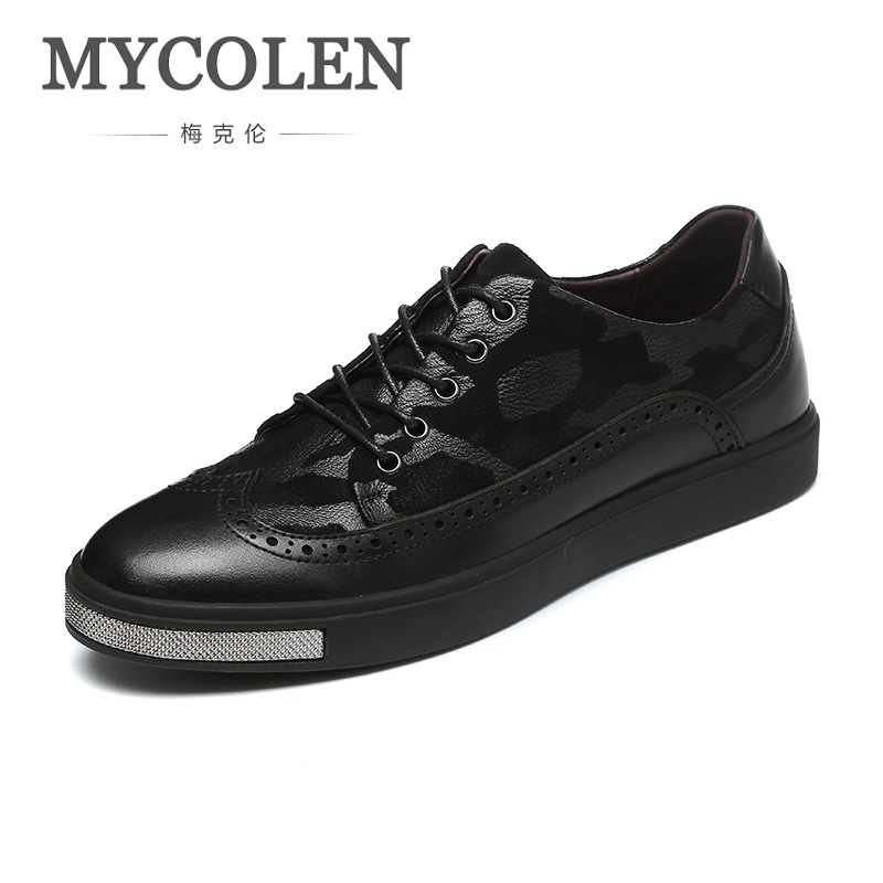MYCOLEN Spring/Autumn Luxury Brand Classic Genuine Leather Shoes Men's Breathable Sneakers Casual Men Shoes Heren Schoenen Leer spring autumn casual men s shoes fashion breathable white shoes men flat youth trendy sneakers