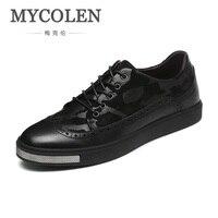Mycolen весна/осень Элитный бренд Классические обувь из натуральной кожи Для мужчин дышащие кроссовки Повседневное Мужская обувь heren schoenen леер
