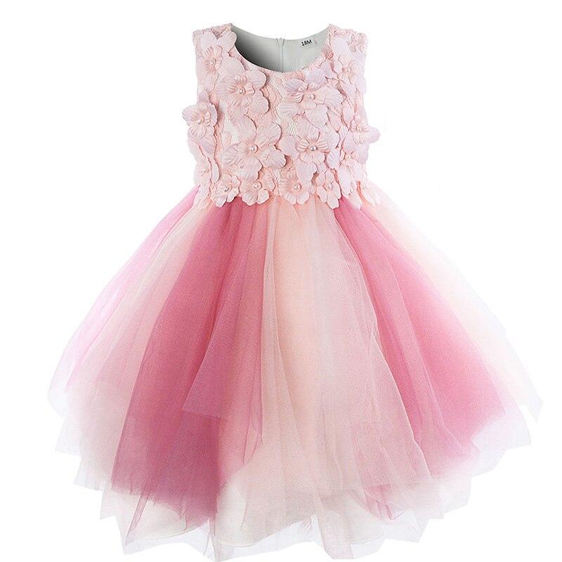89d596ecd9bd 2019 Cielarko Infant Flower Girls Dress Ceremony Pink Baby Party ...