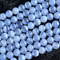 "Wholesale High Quality AAA Natural Genuine Blue Chalcedony Round Loose Beads 4-16mm DIY Jewelry Necklaces or Bracelets 15"" 03673"