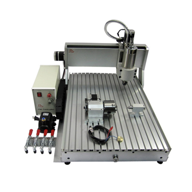 CNC 6090 Router Milling Engraving Machine 4axis USB Port 2200W Water Cooling Carving Ball Screw Cutting  With Free Cutter
