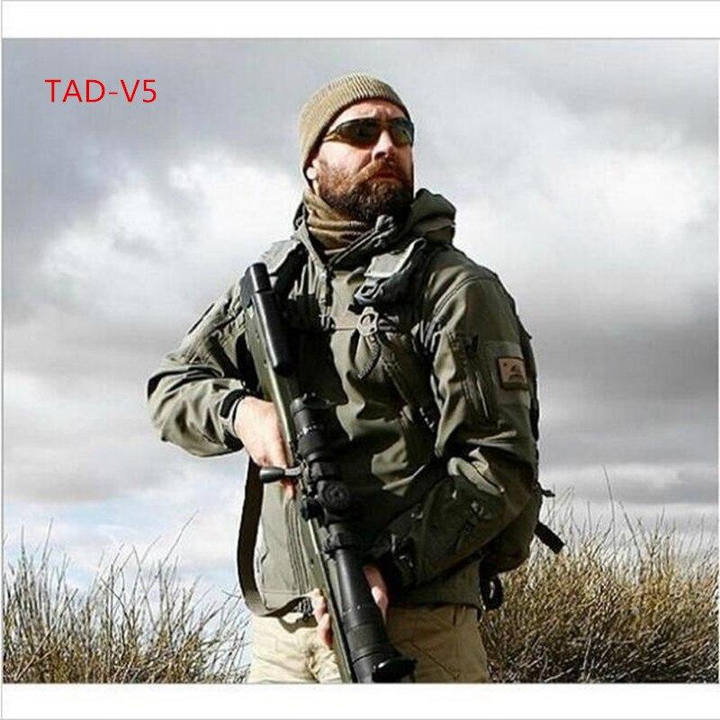 18 Высокое качество скрытень Акула кожу мягкой В виде ракушки TAD V 5.0 Военная Униформа тактическая куртка Водонепроницаемый ветрозащитный ар...
