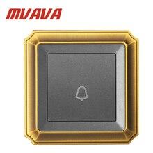 Mvava 86*90 мм Push нижней дверной Звонок переключатель ЕС Великобритания Стандартный Роскошные Бронзовые Панель 110-250 В 1 банды дверной Звонок переключатель