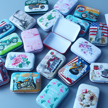 New Vintage Car Tin Box Portable Cartoon Owl Flamingo Bank Card Case Home Storage Box For Jewelry Candy Metal Packaging Gift Box top selling jeweled lacquer owl on branch trinket box owl jewelry box