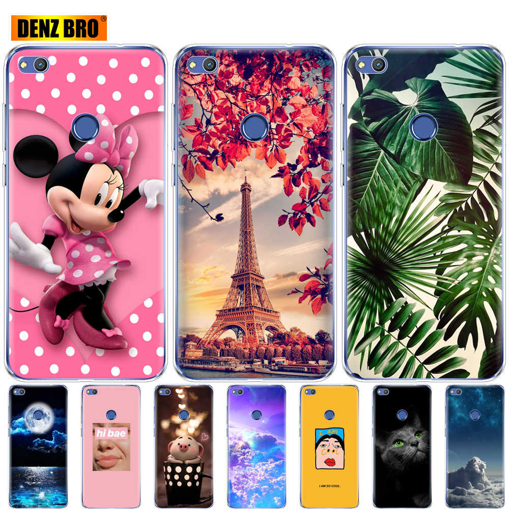 silicone case for huawei P9 LITE 2017 P8 LITE 2017 case bumper soft tpu back phone cover 360 full protective transparent coque