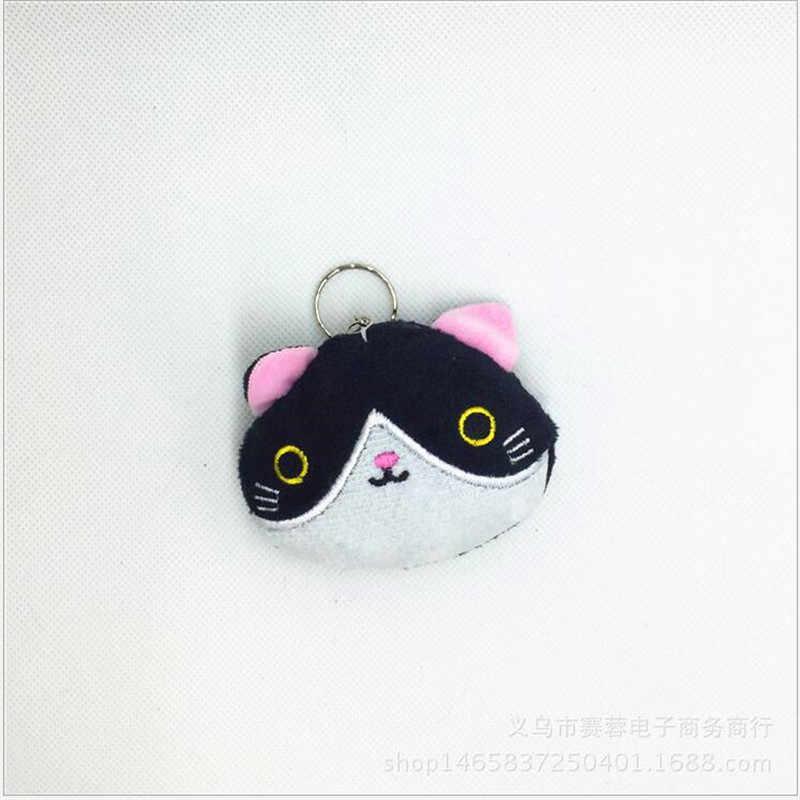 1PCS חמוד קטן חתול בפלאש צעצועי בובת קריקטורה חתול ממולא צעצוע לילדה Keychain תיק תליית בובת 7CM חתונה מתנת בובת חג המולד