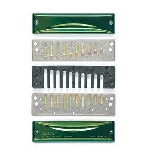 Image 3 - Suzuki C 20 Olive 10 Loch Mundharmonika Grün Professionelle Blues Diatonic Harp10 Löcher Musical Instrument [Wählen ihre schlüssel]