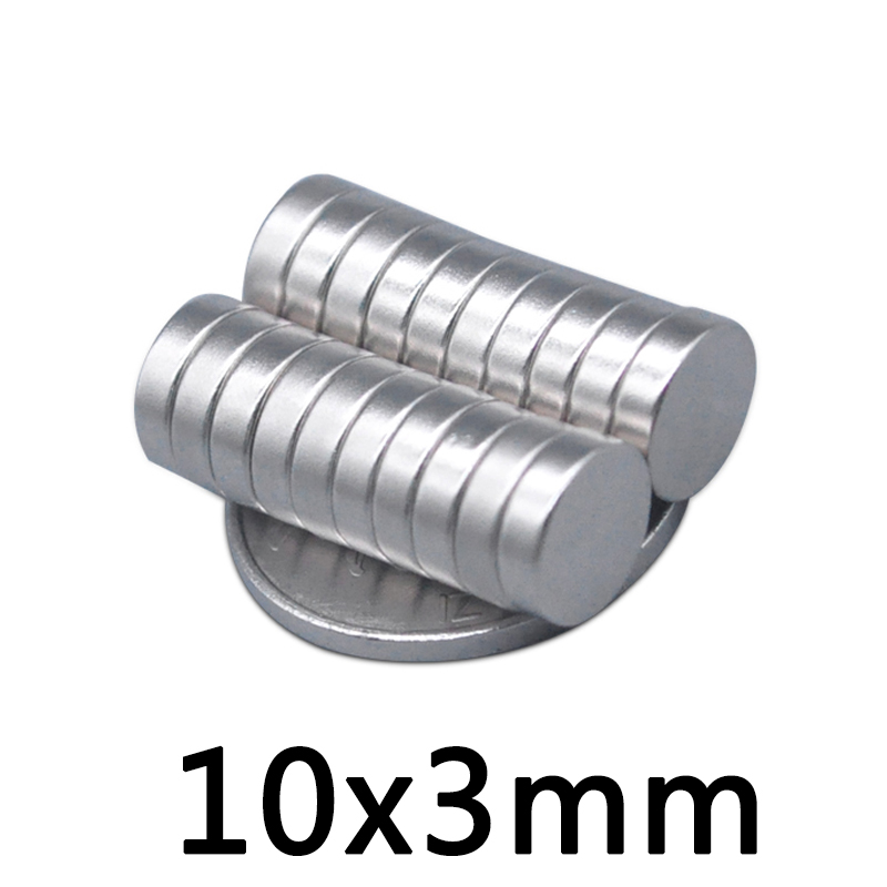 20/50/100pcs <font><b>magnet</b></font> <font><b>10x3mm</b></font> Rare Earth small Strong Round permanent <font><b>Magnet</b></font> piece10*3mm NdFeB N35 magnetic neodymium <font><b>magnet</b></font> image