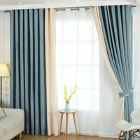 Customized Free Shipping European style Window Curtains Stripes For Living Room/bedding Room Blue/Purple/Brown Blackout Drapes