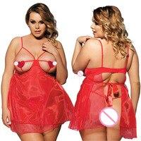 Xxxl 5xl amor do coração oco aberto sutiã tamanho mais sexy lingerie hot sexy underwear exposed peito babydoll mulheres sexy trajes 688