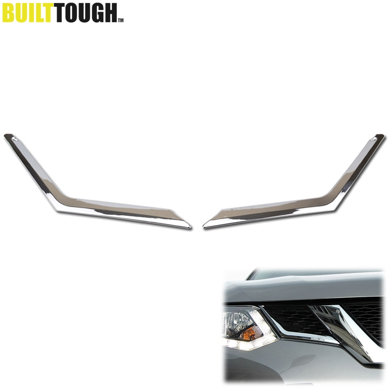 For Nissan X-Trail Xtrail Rogue T32 2014 2015 2016 Chrome Front Mesh Grille Grill Head Light Cover Trim Insert Styling Molding (China)