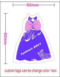 custom print special skirt shape hang tags for you clothes ,Hundreds of design template in our shop