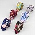 Nuevo Estilo Informal Lazo de La Flor de Color Rosa Púrpura 100% Lazos Corbatas Corbata de Los Hombres de Moda de Diseño Hecho A Mano de Lino de Alta Calidad
