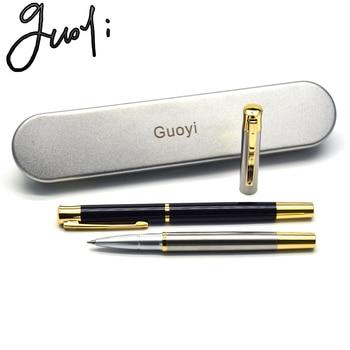 Guoyi A215 novel metal gel pen 0.5mm50pc/lot learning office supplies school stationery luxury gift hotel business ballpoint pen