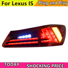 doxa Car Style For Lexus IS250 IS300 IS350 2006-2012 LED Tail Light Assembly Taillight Rear Lamp Driving+Brake+Reversing LIGHT
