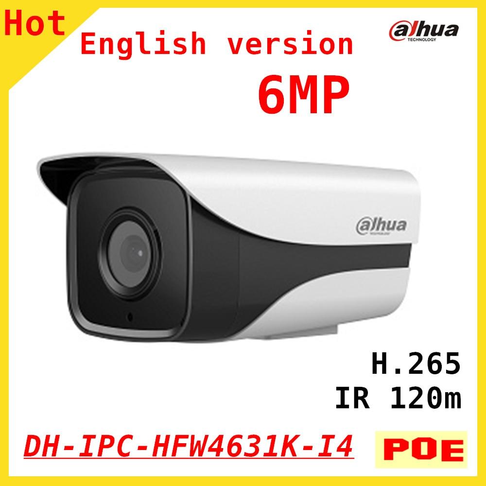 English DAHUA 6MP IP camera DH-IPC-HFW4631K-I4 Bullet IR 120M 1080P Waterproof outdoor POE security camera IPC-HFW4631K-I4