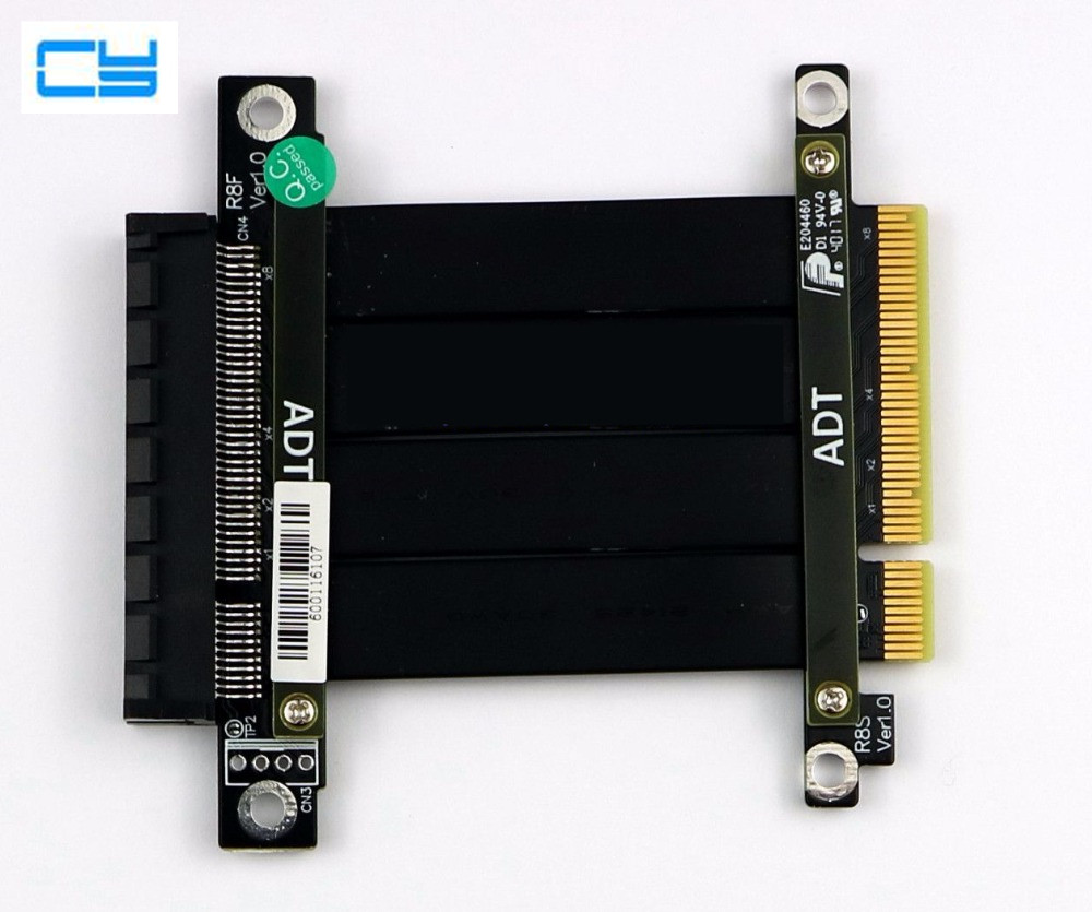 все цены на Riser PCI-E 3.0 x8 Extension cable to pci-e 8 8x PCIe Riser CARD expresscard 1U 2U servers Extender Cable 20cm 100cm Gen3 64Gpbs онлайн