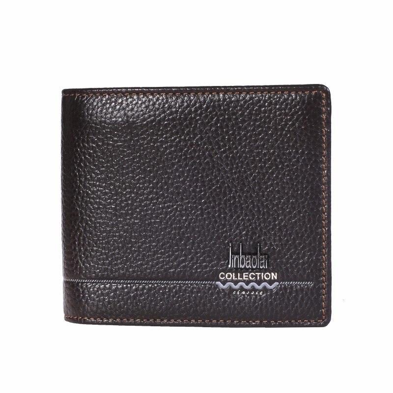 Favourite Wallet Men 100% Leather Short Wallet Vintage Cow Leather Casual Men Wallet Purse Standard Holders Designer Wallets