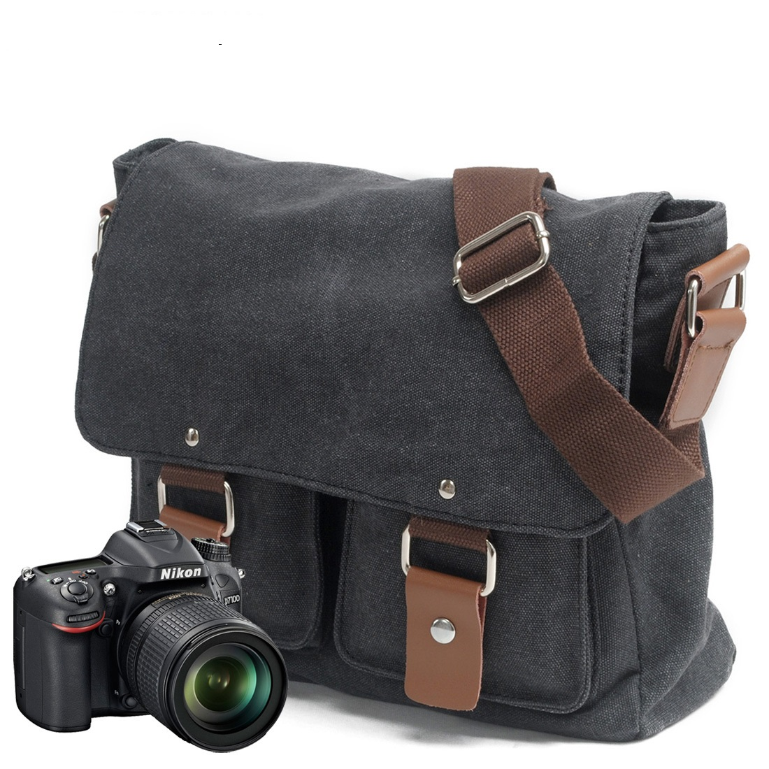 2101ND Wholesale European and American Style Canvas Bag Men and Women inclined Shoulder Camera Bag бензонсос на ваз 2101
