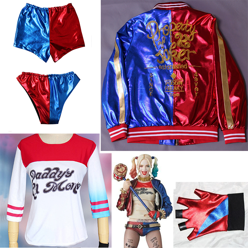 Cosplay Halloween Costumes For Women Suicide Squad Jacket Shirt Full Set Wig Joker Fancy Party Halloween Harley Quinn Costumes