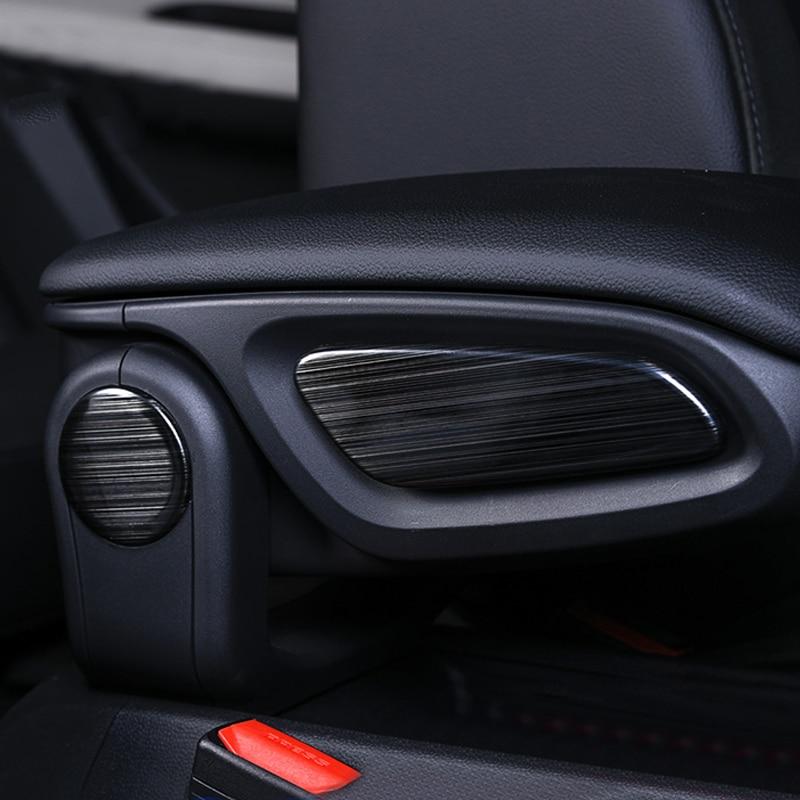 4pcs/Set Car Interior Armrest Cover Trim Stainless Steel Sticker Decoration For BMW MINI Cooper F60 Car-Styling Accessories 4pcs set car door handle doorknob cover sticker decal decoration for bwm mini cooper jcw one f54 f55 f60 car styling accessories
