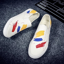 Men Canvas Shoes Summer Breathable Loafers Moccasins High Quality Anti-Slip Comfortable Vulcanized Flats Footwear