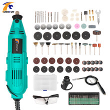Mini Drill Tools Accessories Drilling Machine Electric 30000rpm Micro Drill Electric For Dremel Accessories Set Flexible Shaft(China)