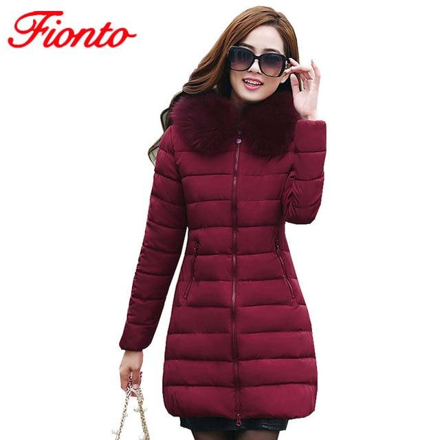 ef287e68db7 FIONTO Womens Winter Jackets And Coats 2017 Thick Warm Hooded Jacket Women  Parkas Plus Size Winter Jacket Manteau Femme A160-1