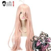 HSIU Super DanganRonpa Cosplay Wig Miu Iruma Costume Play Woman Adult Wigs Halloween Anime Game Hair