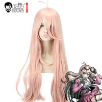 HSIU Super DanganRonpa Cosplay Wig Miu Iruma Costume Play Woman Adult Wigs Halloween Anime Game Hair