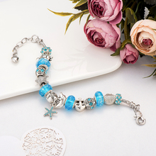 Starfish/Turtle Silver Charm Bracelets