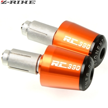 for ktm rc 390 rc390 motorcycle CNC partsMotorcycle Accessories 7/8'' 22MM Handlebar Grips Handle Bar Cap End Plugs RC390