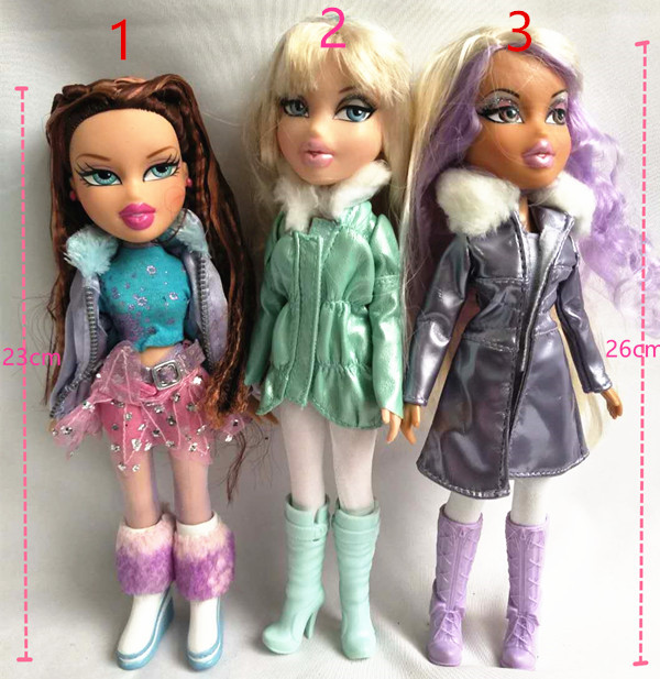 Fashion Action Figure Original Bratz Doll Red Hair And Beautiful Clothes Dress Up Doll Best Gift For Child
