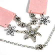 Velvet & Rhinestone Choker with Flower Pendant