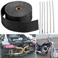 Fiberglass Exhaust Wrap Header Turbo Pipe High Heat Insulating Tape Black Car 10mx5cmx2mm