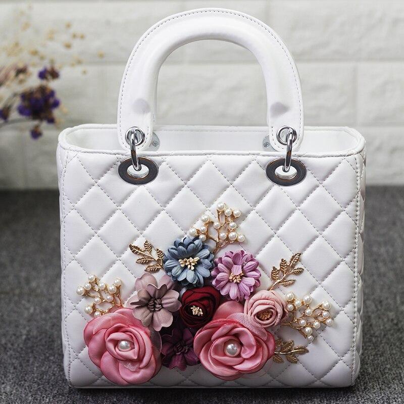 Marque de luxe Fleur Rabat Sac Femmes Haute Qualité PU En Cuir Sac À Bandoulière Carré Sac de Messager