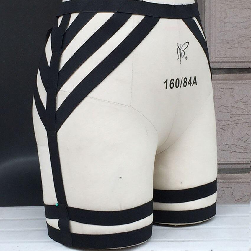 2015 schwarz New Garters Gothic Harajuku Strumpfgürtel Körpergeschirr Ballkleider Bein Strumpfband