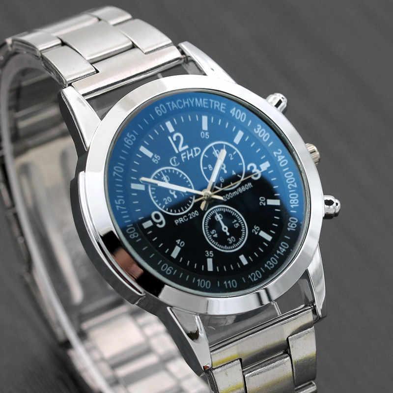 Relógio de pulso analógico montre homme 2019 novo relógio de pulso do esporte dos homens de aço inoxidável da marca de luxo da forma