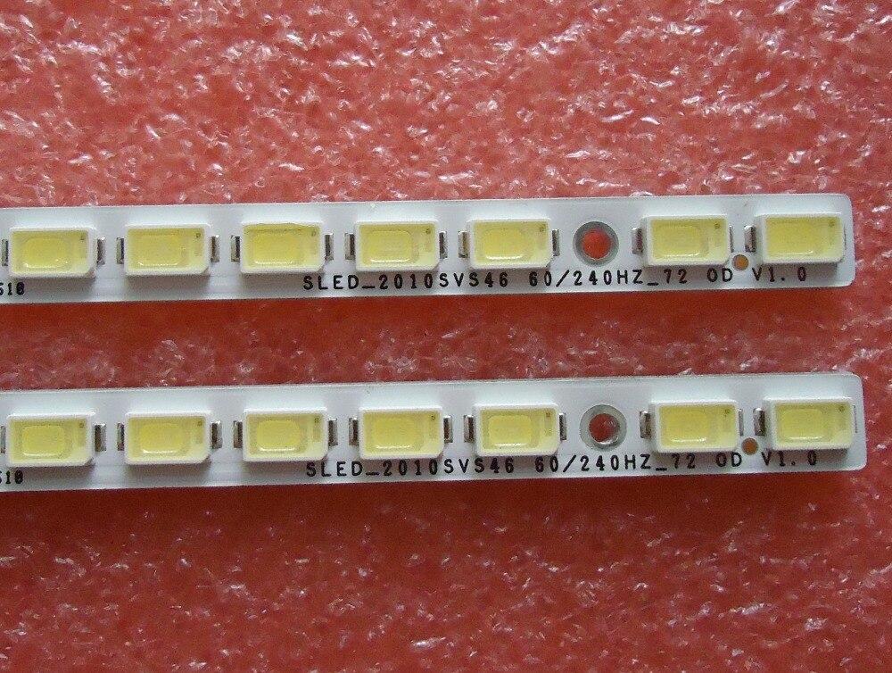 1-10 пар/лот 2010SVS46 60/240HZ-72 0D V1.0 для samsung UA46C7000WF светодио дный Подсветка полосы 72 светодио дный 522 мм