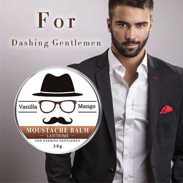 Men's Beard Care Cream Men Beard Balm Leave Moisturizing Care Cream Beard Care Lubricating Cream 30g  drop shipping 18may14