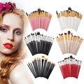 20Pcs Pro Makeup Brushes Kit Set Tools 6 Color Eyeshadow Blusher Powder Foundation Concealer Eyebrow Eyeshadow Brushes Kits