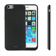 Portable Backup External Battery Case Charger Case Power Bank Pack Charging Case for iPhone 6 6s Plus 3800mah/6800mah Black