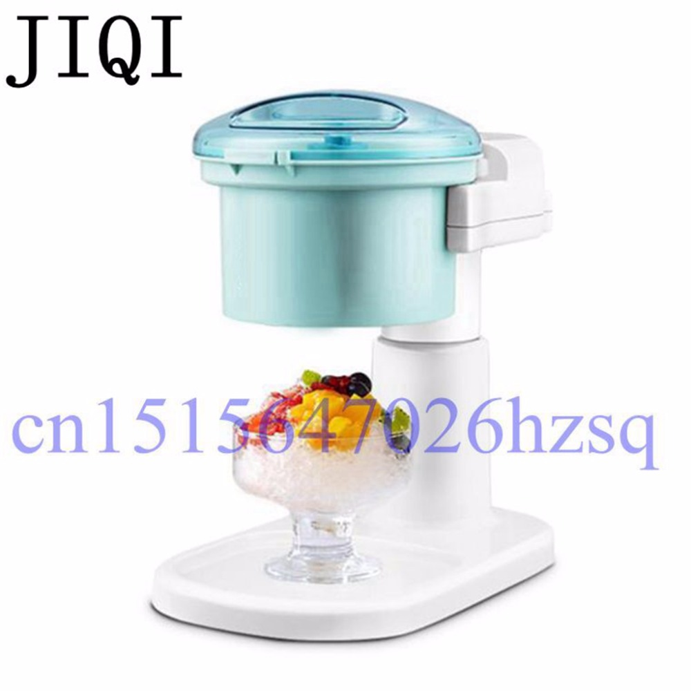 JIQI Electric Ice Crusher 1.2L Household full-automatic Mini Slushies maker Fruit juicer 220V 20-28W Ice Shaver machine jiqi household snow cone ice crusher fruit juicer mixer ice block making machines kitchen tools maker