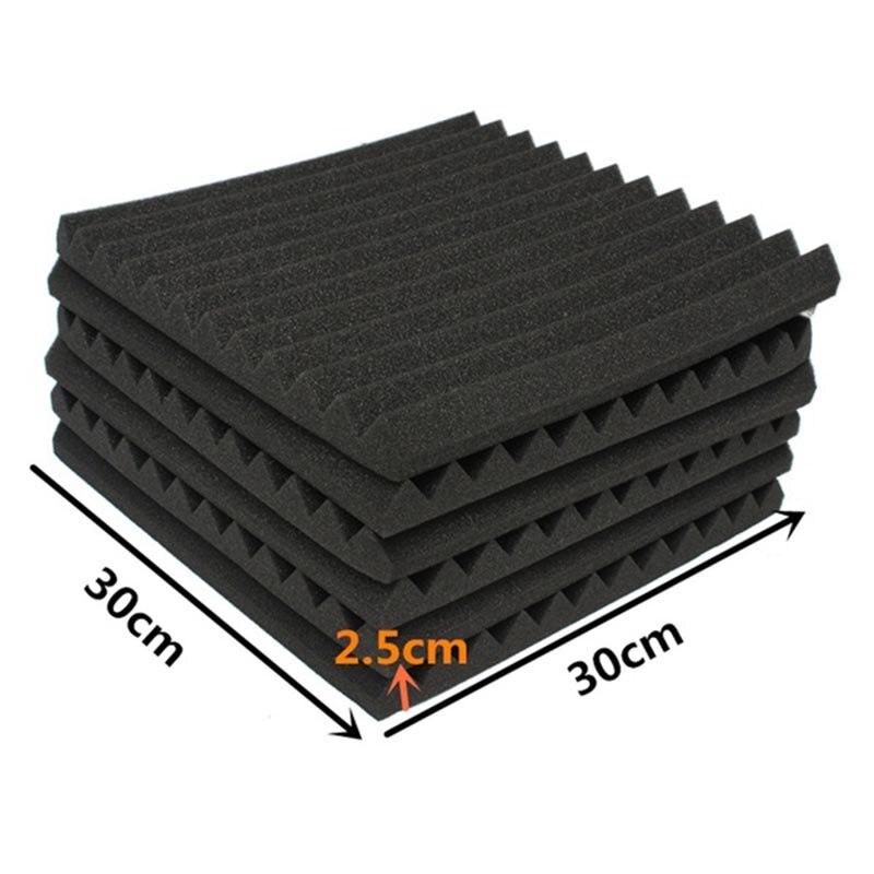 24 pcs Soundproofing Foam Studio Acoustic Panels Studio Foam Wedges 1 X 12 X 12 inch Soundproof Absorption Treatment Panel
